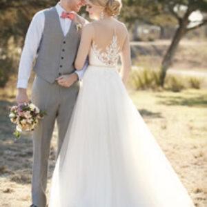 Essense of Australia Style, D2085, Brautpaar, Hochzeit, Hochzeitskleid