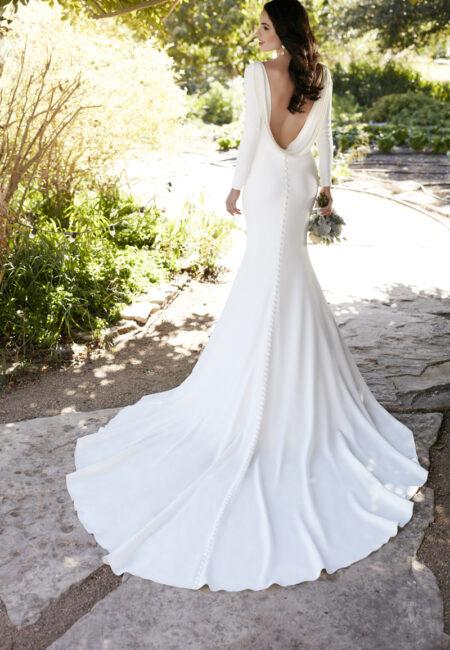 Brautkleid mit Ärmel, Schleppe, brautMartina Liana Style 791