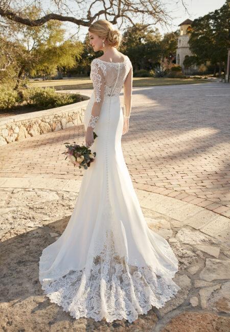 Foto: Essense of Australia Style D2124, Schleppe, weißes Kleid, Hochzeit, Braut